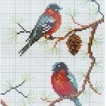 Etamin Şablonları Kuş Desenleri 68