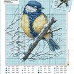 Etamin Şablonları Kuş Desenleri 72