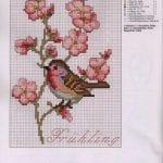 Etamin Şablonları Kuş Desenleri 7