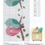 Etamin Şablonları Kuş Desenleri 79