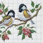 Etamin Şablonları Kuş Desenleri 82