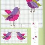 Etamin Şablonları Kuş Desenleri 85