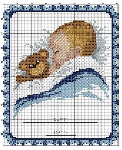 Вышивка ребёнок схема 15