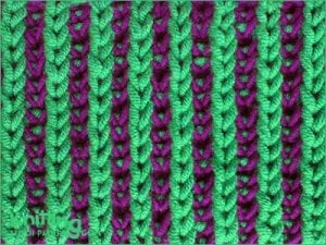 İki Renkli Örgü Modelleri 2
