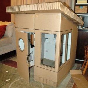 Kartondan Ev Yapımı - Resimli Videolu Örnekleri 2