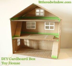 Kartondan Ev Yapımı - Resimli Videolu Örnekleri 7