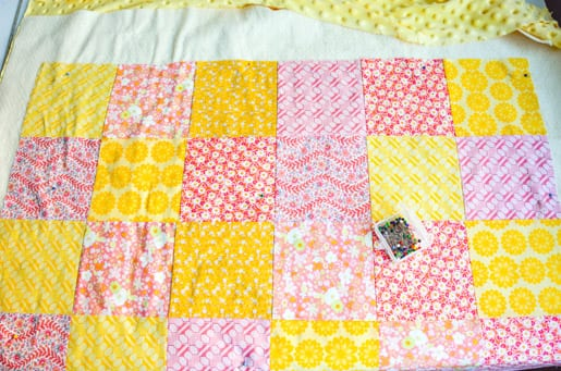 how to make a quilt with embroidered squares