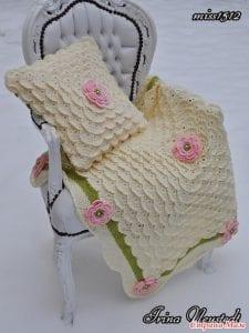 Kirpik Örgü Modeli Bebek Battaniyesi Yapılışı
