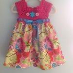 Kumaşla Örgü Kız Çocuk Elbise Modelleri ve Yapılışı 100