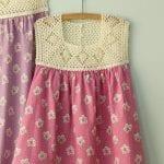 Kumaşla Örgü Kız Çocuk Elbise Modelleri ve Yapılışı 101