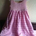 Kumaşla Örgü Kız Çocuk Elbise Modelleri ve Yapılışı 106