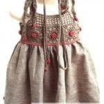 Kumaşla Örgü Kız Çocuk Elbise Modelleri ve Yapılışı 108