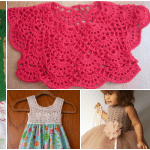 Kumaşla Örgü Kız Çocuk Elbise Modelleri ve Yapılışı 112
