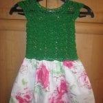 Kumaşla Örgü Kız Çocuk Elbise Modelleri ve Yapılışı 28