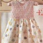 Kumaşla Örgü Kız Çocuk Elbise Modelleri ve Yapılışı 31