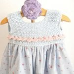 Kumaşla Örgü Kız Çocuk Elbise Modelleri ve Yapılışı 33