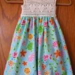 Kumaşla Örgü Kız Çocuk Elbise Modelleri ve Yapılışı 34