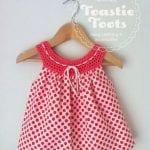 Kumaşla Örgü Kız Çocuk Elbise Modelleri ve Yapılışı 35