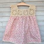 Kumaşla Örgü Kız Çocuk Elbise Modelleri ve Yapılışı 36
