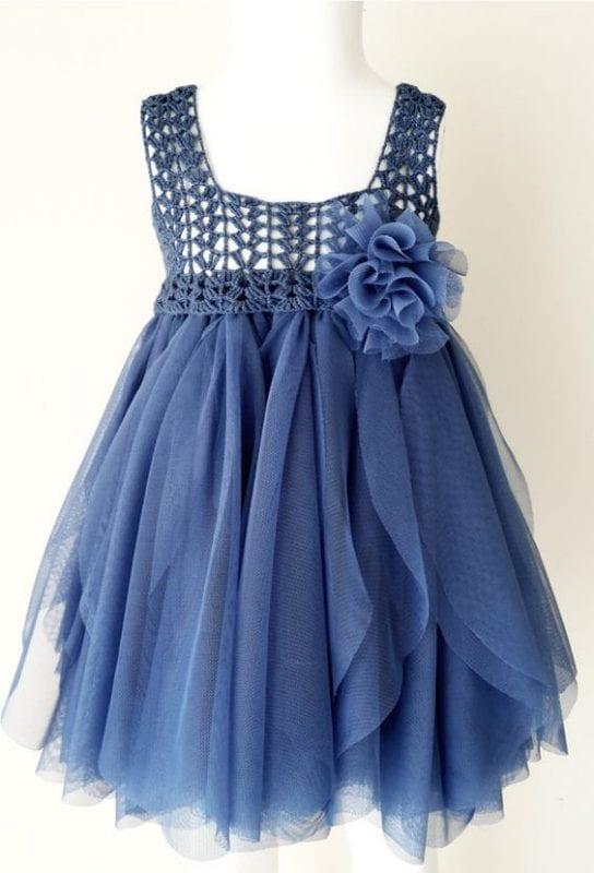 Kumaşla Örgü Kız Çocuk Elbise Modelleri ve Yapılışı 37