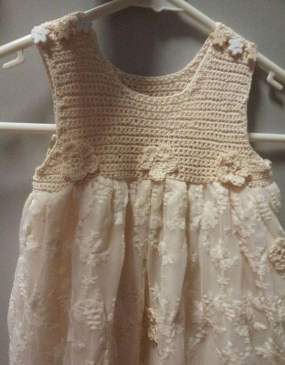 Kumaşla Örgü Kız Çocuk Elbise Modelleri ve Yapılışı 42