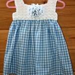 Kumaşla Örgü Kız Çocuk Elbise Modelleri ve Yapılışı 44