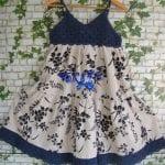 Kumaşla Örgü Kız Çocuk Elbise Modelleri ve Yapılışı 46