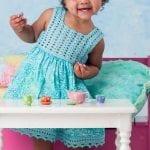 Kumaşla Örgü Kız Çocuk Elbise Modelleri ve Yapılışı 48