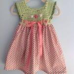 Kumaşla Örgü Kız Çocuk Elbise Modelleri ve Yapılışı 49