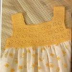 Kumaşla Örgü Kız Çocuk Elbise Modelleri ve Yapılışı 50