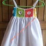 Kumaşla Örgü Kız Çocuk Elbise Modelleri ve Yapılışı 51