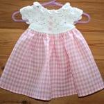 Kumaşla Örgü Kız Çocuk Elbise Modelleri ve Yapılışı 53