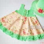 Kumaşla Örgü Kız Çocuk Elbise Modelleri ve Yapılışı 65