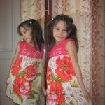 Kumaşla Örgü Kız Çocuk Elbise Modelleri ve Yapılışı 67