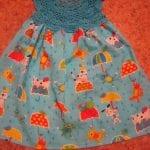 Kumaşla Örgü Kız Çocuk Elbise Modelleri ve Yapılışı 71