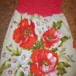 Kumaşla Örgü Kız Çocuk Elbise Modelleri ve Yapılışı 72