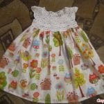 Kumaşla Örgü Kız Çocuk Elbise Modelleri ve Yapılışı 73