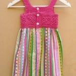 Kumaşla Örgü Kız Çocuk Elbise Modelleri ve Yapılışı 74