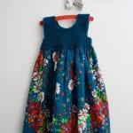Kumaşla Örgü Kız Çocuk Elbise Modelleri ve Yapılışı 75