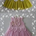 Kumaşla Örgü Kız Çocuk Elbise Modelleri ve Yapılışı 78