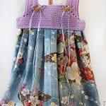 Kumaşla Örgü Kız Çocuk Elbise Modelleri ve Yapılışı 82