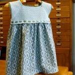 Kumaşla Örgü Kız Çocuk Elbise Modelleri ve Yapılışı 83