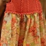Kumaşla Örgü Kız Çocuk Elbise Modelleri ve Yapılışı 84