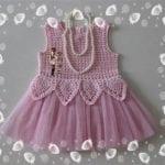 Kumaşla Örgü Kız Çocuk Elbise Modelleri ve Yapılışı 85