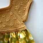 Kumaşla Örgü Kız Çocuk Elbise Modelleri ve Yapılışı 86