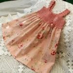 Kumaşla Örgü Kız Çocuk Elbise Modelleri ve Yapılışı 87