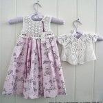 Kumaşla Örgü Kız Çocuk Elbise Modelleri ve Yapılışı 88