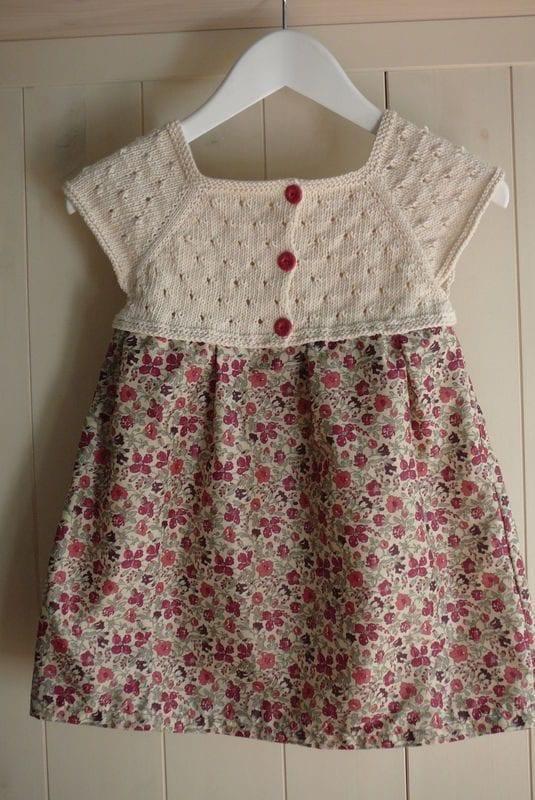 Kumaşla Örgü Kız Çocuk Elbise Modelleri ve Yapılışı 89
