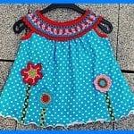 Kumaşla Örgü Kız Çocuk Elbise Modelleri ve Yapılışı 91