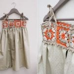 Kumaşla Örgü Kız Çocuk Elbise Modelleri ve Yapılışı 92